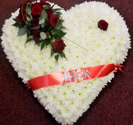 Large red and White heart