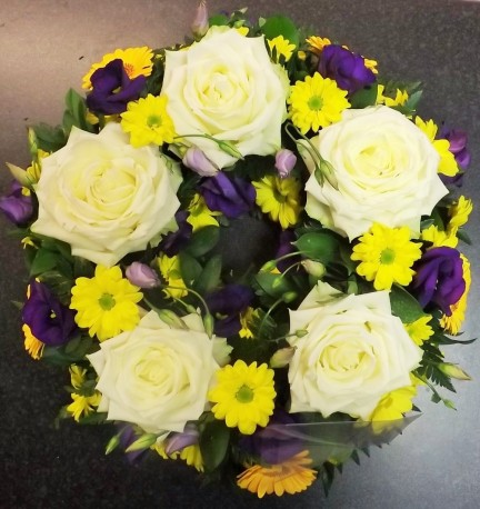 Yellow and Purple Wreath